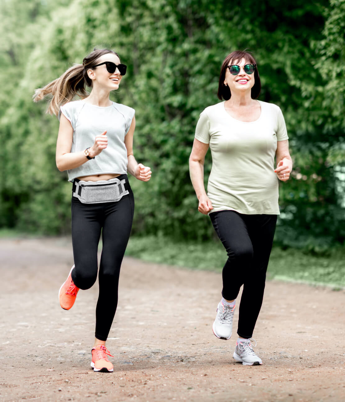 Two women out for a jog.